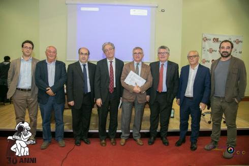 Da sinistra: Gianluca Palma, Amedeo Di Maio, Carmine Pignata, Enrico Morando,  Nando Santonastaso, Amedeo Lepore, Claudio Gubitosi, Francesco Lopez.